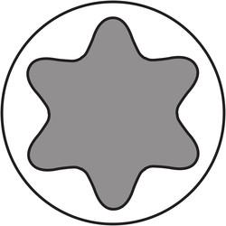 Dynaplus universeelschroef verzinkt platkop deeldraad