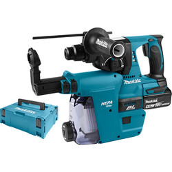 Makita Makita DHR242RTJW accu combihamer machine met afzuiging SDS-plus - 26260 - van Toolstation