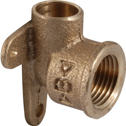 "Conex Conex soldeer muurplaat brons 1/2""x15mm kort model - 27032 - van Toolstation"