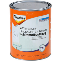 Alabastine 2-in-1 badkamer & keukenverf wit