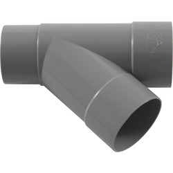 PVC HWA T-Stuk 45º