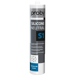 Proby Siliconenkit neutraal S1 wit 280ml - 48443 - van Toolstation