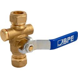 BPE stopkogelkraan met aftapgelegenheid