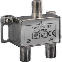 Q-link coax F-splitter 2 weg