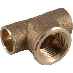 Conex soldeer T-stuk brons