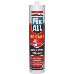 Soudal Soudal fix all high tack lijmkit wit 290ml - 63736 - van Toolstation