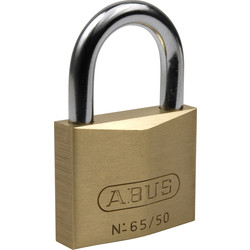 Abus Abus messing hangslot 65/40mm - 63861 - van Toolstation