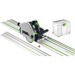 Festool TS 55 REBQ-Plus-FS 230V Invalzaag machine + extra geleiderail