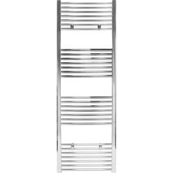 Vlakke designradiator chroom