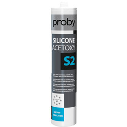 Proby Siliconenkit S2 wit 280ml - 95120 - van Toolstation