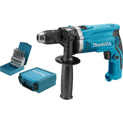 Makita HP1631KX2 klopboormachine + 18-delige borenset