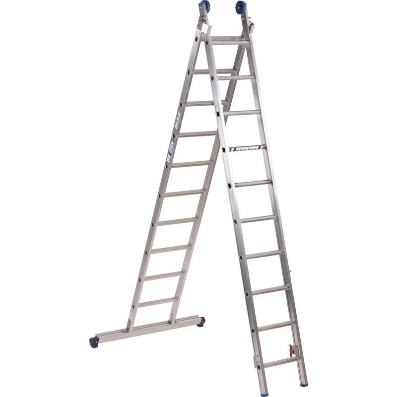 Alumexx ladder XD BL recht met stabilisatiebalk