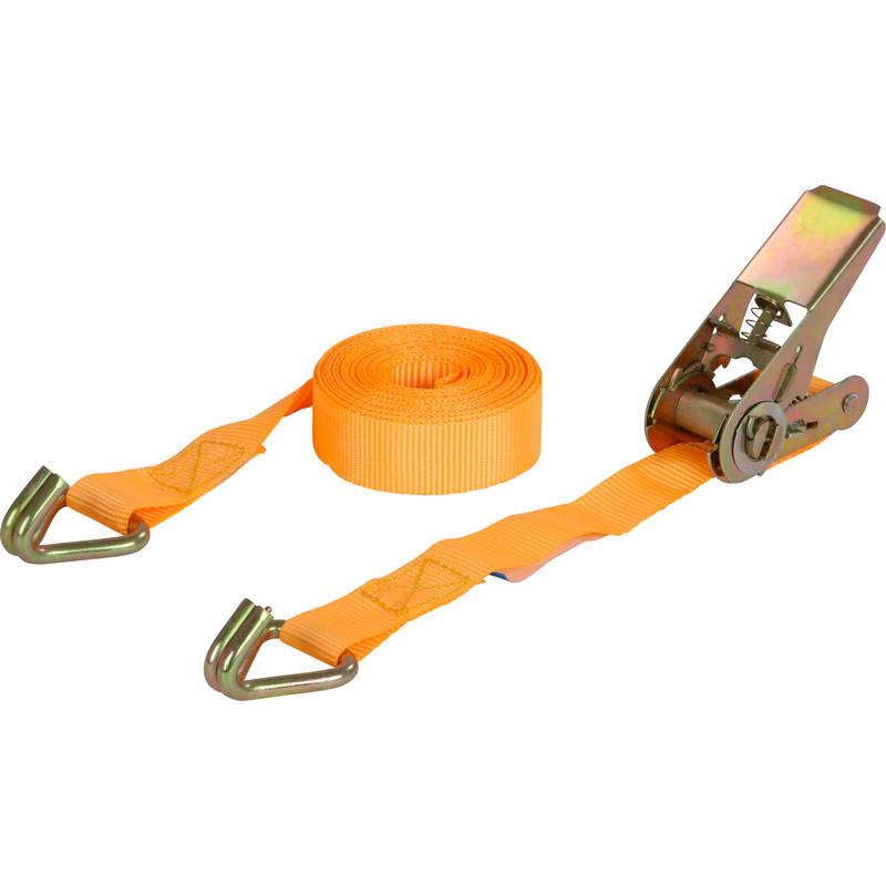 Spanband met ratel/haken