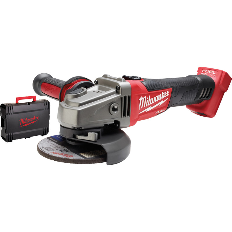 Milwaukee M18 CAG125X-0X haakse accu slijpmachine (body)