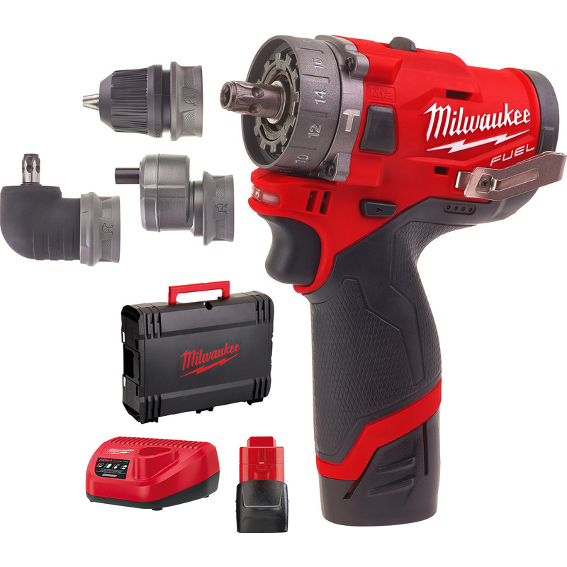 milwaukee m12 fpdxkit 202x accu schroefklopboormachine 12v li ion. Black Bedroom Furniture Sets. Home Design Ideas