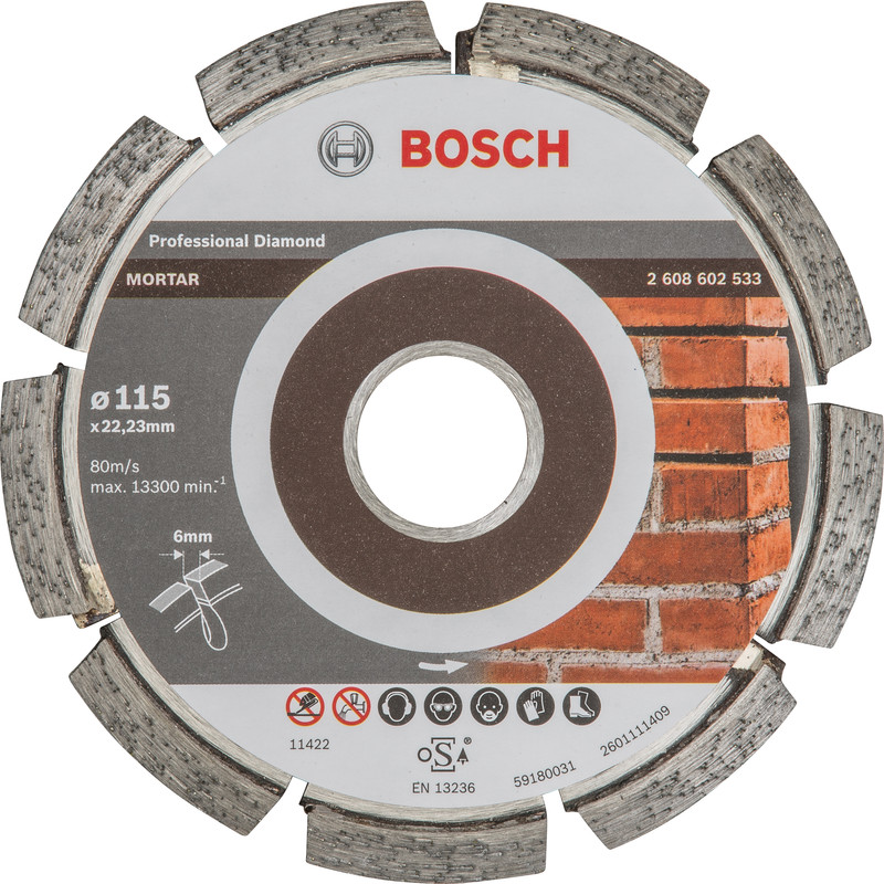 Bosch Best for Mortar diamantschijf voegen 115x22,2x6mm