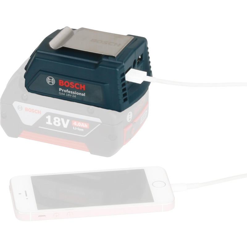 Bosch GAA 18V-24 USB adapter 14,4 - 18V Li-ion