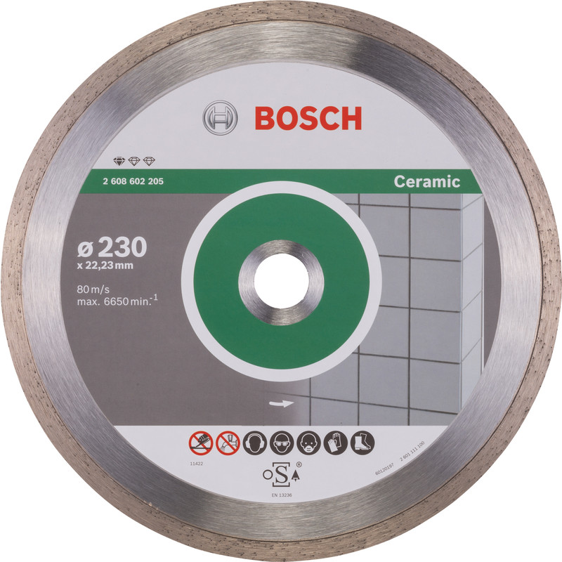 Bosch Standard for Ceramic diamantschijf tegels 230x22,2x1,6mm