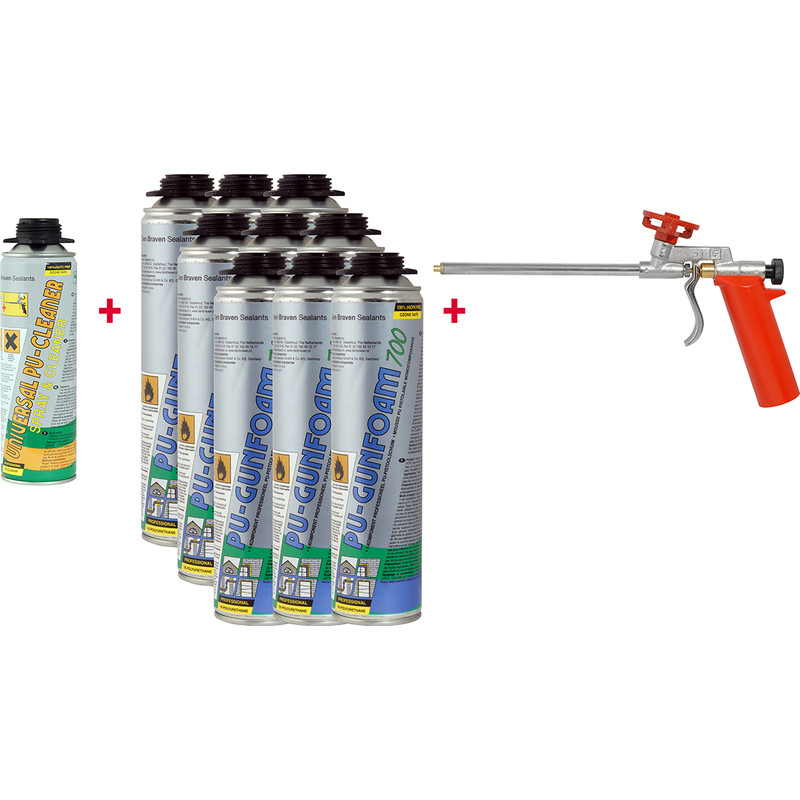 Zwaluw NBS gunfoam starterset 9x700ml