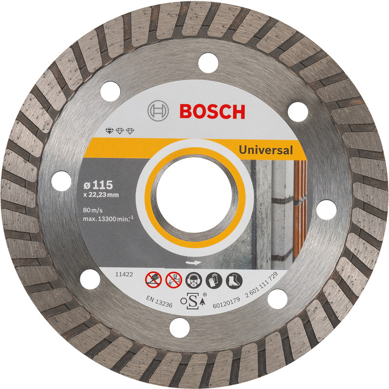 Bosch Standard for Universal Turbo diamantschijf universeel 115x22,2x2,0mm