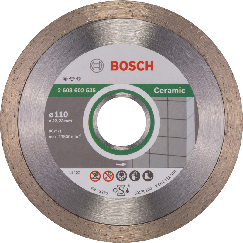 Bosch Standard for Ceramic diamantschijf tegels 110x22,2x1,6mm