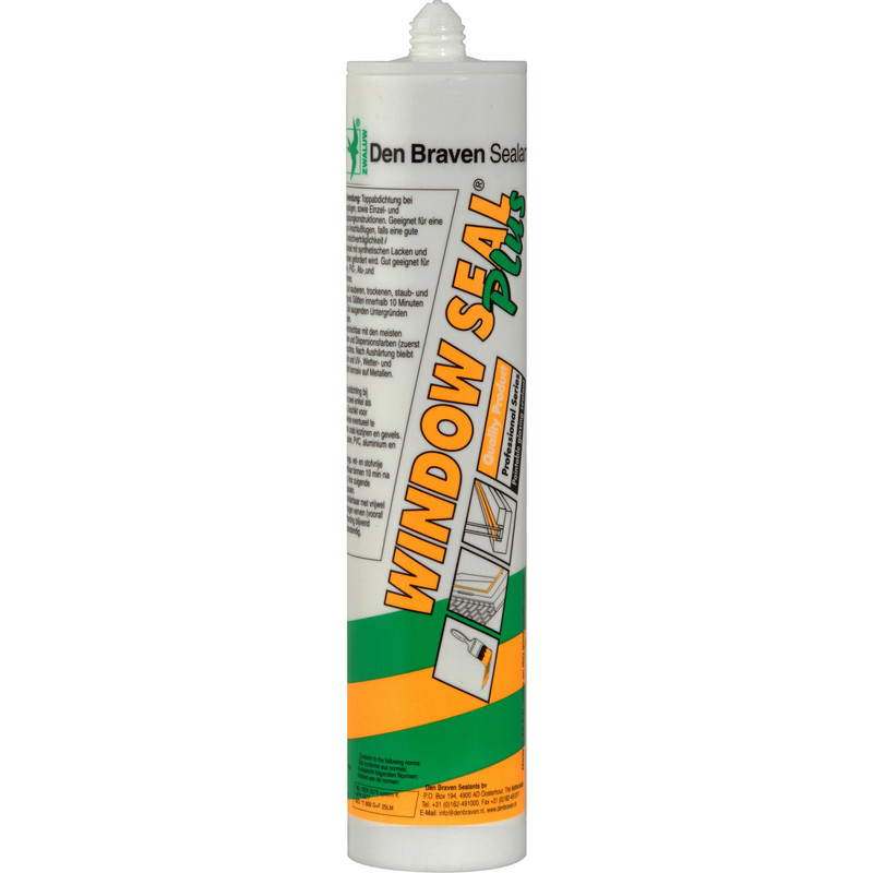 Zwaluw windowseal plus afdichtingskit zwart 310ml